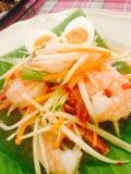 Salada picante com camarão Imagens de Stock