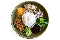 Salada picante da aletria do arroz Foto de Stock Royalty Free