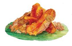 Salada picante da aletria do arroz Fotografia de Stock