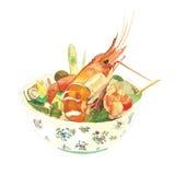 Salada picante da aletria do arroz Imagem de Stock Royalty Free
