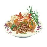 Salada picante da aletria do arroz Fotos de Stock Royalty Free