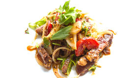 Salada picante da carne Imagens de Stock Royalty Free