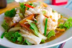 Salada picante do calamar Imagens de Stock Royalty Free