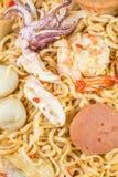 Salada picante do macarronete imediato, culinária tailandesa Imagens de Stock