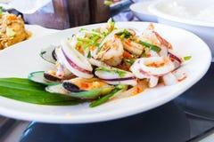 Salada picante do marisco Imagens de Stock
