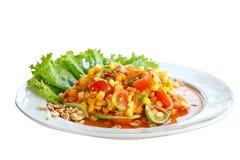 Salada picante do milho doce imagens de stock royalty free
