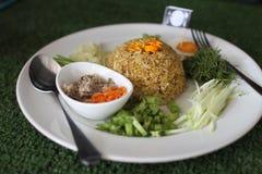 Salada picante do sul tailandesa do arroz com vegetais Fotos de Stock Royalty Free