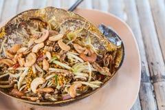 Salada picante dos peixes em ferradura fotos de stock royalty free