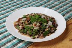 Salada picante misturada dos berbigões Imagem de Stock