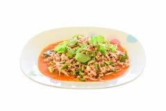 Salada picante ou Larb da carne de porco Fotografia de Stock