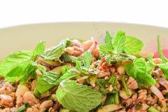 Salada picante ou Larb da carne de porco Fotos de Stock