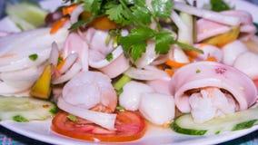 Salada picante tailandesa do marisco, Yum fotos de stock royalty free