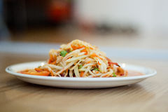 Salada quente e picante da papaia Fotos de Stock