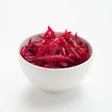 Salada raspada fresca das beterrabas Imagem de Stock