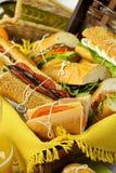 Salada Rolls do piquenique Imagens de Stock Royalty Free