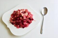 Salada roxa saboroso da beterraba Foto de Stock