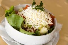 Salada sérvio do gourmet com tomate, pepino e RUB Imagem de Stock Royalty Free