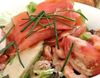 Salada Salmon Imagens de Stock Royalty Free