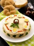 Salada Salmon com ovos Fotografia de Stock