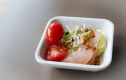 Salada salmon Seared Fotos de Stock