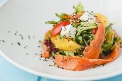 Salada salmon Seared Fotografia de Stock