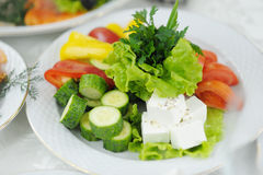 Salada saudável do legume fresco do alimento Foto de Stock