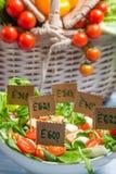 Salada saudável sem preservativos Foto de Stock