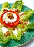 Salada servida com queijo fresco Imagem de Stock Royalty Free