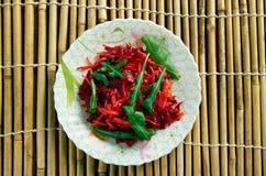 Salada Shredded da beterraba e da cenoura Imagens de Stock