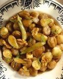 Salada Stewed da castanha, da erva-doce, da cebola e da noz Imagens de Stock