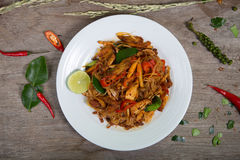 Salada tailandesa com cenoura, tomate, Foto de Stock