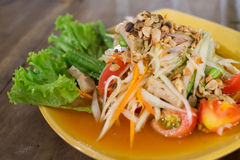 Salada tailandesa 3 da papaia Imagens de Stock