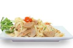 Salada tailandesa da papaia do alimento Imagem de Stock