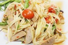 Salada tailandesa da papaia do alimento Foto de Stock Royalty Free