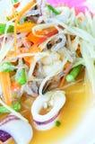 Salada tailandesa da papaia. (somtam) Fotografia de Stock Royalty Free