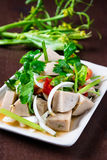 Salada tailandesa da salsicha de carne de porco Fotos de Stock