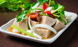 Salada tailandesa da salsicha de carne de porco Foto de Stock