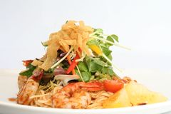Salada tailandesa do camarão. Imagens de Stock