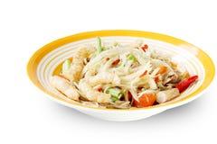 Salada tailandesa picante da papaia Foto de Stock
