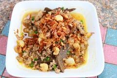 Salada triturada picante da carne de porco Imagem de Stock