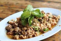Salada triturada picante da carne de porco Fotos de Stock Royalty Free