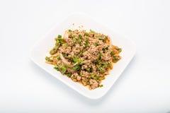 Salada triturada picante da carne de porco, erva-benta triturada da carne de porco com picante Fotos de Stock