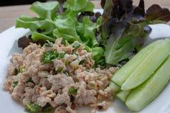 Salada triturada picante da carne de porco Limpe o alimento Fotografia de Stock