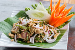 Salada triturada picante tailandesa da carne Foto de Stock Royalty Free