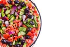 Salada turca colorida do pastor em uma bacia Foto de Stock