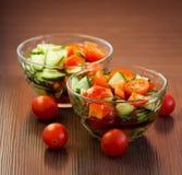 Salada vegetal fotografia de stock royalty free