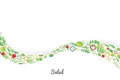 Salada vegetal ilustração royalty free