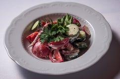 Salada vegetal caseiro fotografia de stock royalty free