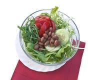Salada vegetal com feijões Foto de Stock Royalty Free