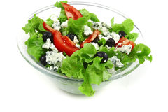 Salada vegetal com queijo azul Foto de Stock Royalty Free
